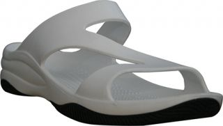 Womens Dawgs Z Sandal/Rubber Sole   White/Black Casual Shoes