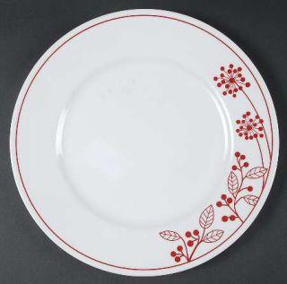Corning Berries And Leaves Dinner Plate, Fine China Dinnerware   Red Band & Leav