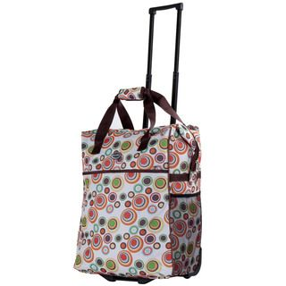 Calpak Big Eazy Lightweight 20 inch Washable Rolling Shopper Tote (Crepe Weight 4.6 poundsWide front zippered pocketZippered pocket compartment attached insideAdjustable HandleRetractable pull handleZip trolley to hide pull handle when not in useWheeled