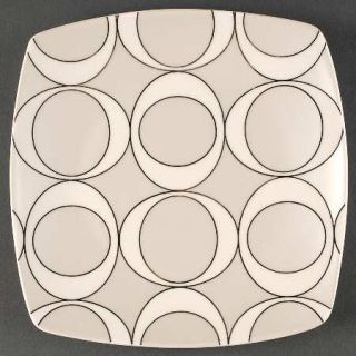 Home Odeon Platinum Dinner Plate, Fine China Dinnerware   White,Platinum Outline