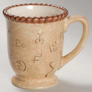 Montana Lifestyles Branded Mug, Fine China Dinnerware   Brown Cattle Brands&Rope
