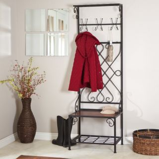 Loring Entryway Storage Rack Hall Tree Multicolor   JF101871