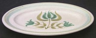 Franciscan Tulip Time Butter Tray, Fine China Dinnerware   Blue/Green Tulip, Blu