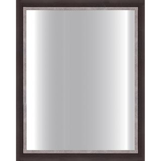 Dark Brown Framed Glass Mirror (Dark brown/ pewter lipDimensions 24 inches x 30 inches  )