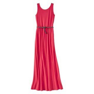 Merona Womens Maxi Dress w/Belt   Blazing Coral   M