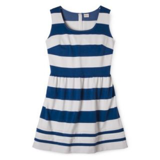Merona Womens Plus Size Short Sleeve Ponte Dress   Black/Cream 4X