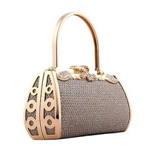 Womens European and American retro styling gold evening bag handbag DJ Princess package (lining color random)
