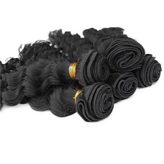 Brazilian Deep Wave Weft 100% Virgin Remy Human Hair Extensions Mixed Lengths 22 24 26 Inches