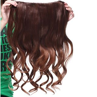 Long Clip In High Quality Synthetic Curly Hair Extension Two Colors Available