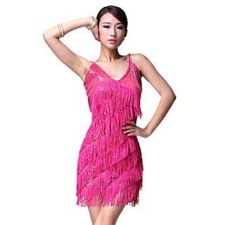 Dancewear Polyester Latin Dance Dress For Ladies