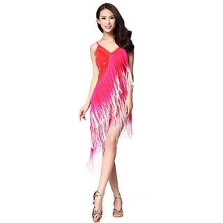 Dancewear Viscose Latin Dance Dress For Ladies(More Colors)