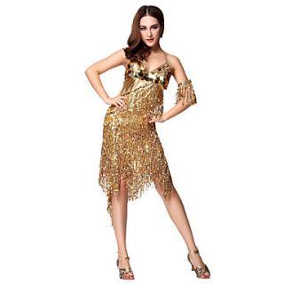Dancewear Fabric Latin Dance Dress For Ladies