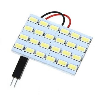5630 SMD 24 LED White Light for Car Interior with 3 Adapters