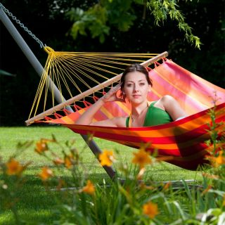 Gale Pacific Single Person Hammock with Timber Spreader Bar Lime   462307