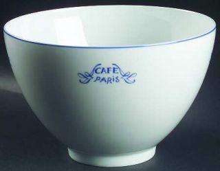 Bernardaud Cafe Paris Blue 10 Large Salad Serving Bowl, Fine China Dinnerware