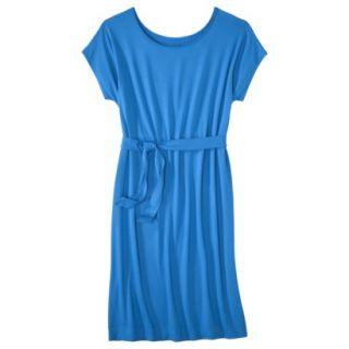 Merona Womens Knit Belted Dress   Brilliant Blue   S