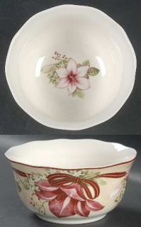 222 Fifth (PTS) Yuletide Celebration Coupe Cereal Bowl, Fine China Dinnerware