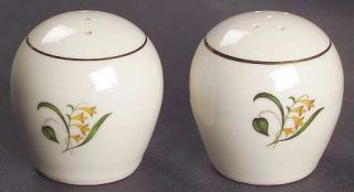 Edwin Knowles Forsythia Salt & Pepper Set, Fine China Dinnerware   Yellow Flower