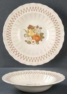 Metlox   Poppytrail   Vernon Fruit Basket Rim Soup Bowl, Fine China Dinnerware