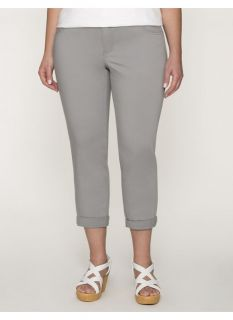 Lane Bryant Plus Size Genius Fit skinny capri     Womens Size 20, Frost Gray