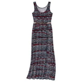 Merona Womens Maxi Dress w/Belt   Xavier Navy   M