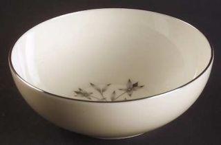 Lenox China Princess Coupe Cereal Bowl, Fine China Dinnerware   Gray & Tan Flora