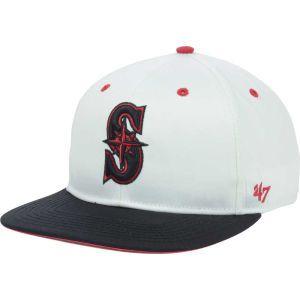Seattle Mariners 47 Brand MLB Red Under Snapback Cap